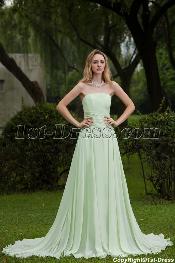 2013 Simple Sage Long Evening Dresses on Sale IMG_7662:1st-dress.com