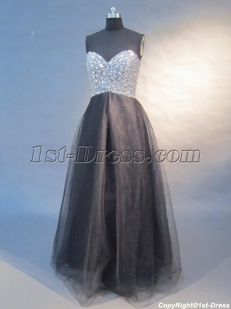 images/201305/big/Black-A-Line-Floor-Length-Satin-Tulle-Plus-Size-Prom-Dress-0421-1497-b-1-1370026969.jpg