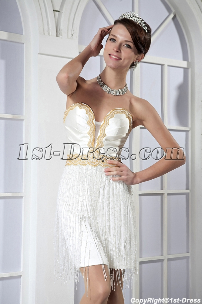 bohemia exclusive gold and white short graduation dress gg1024 1st