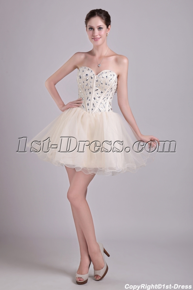 Champagne Short Super Sweet 16 Dresses 0960 1st Dress Com