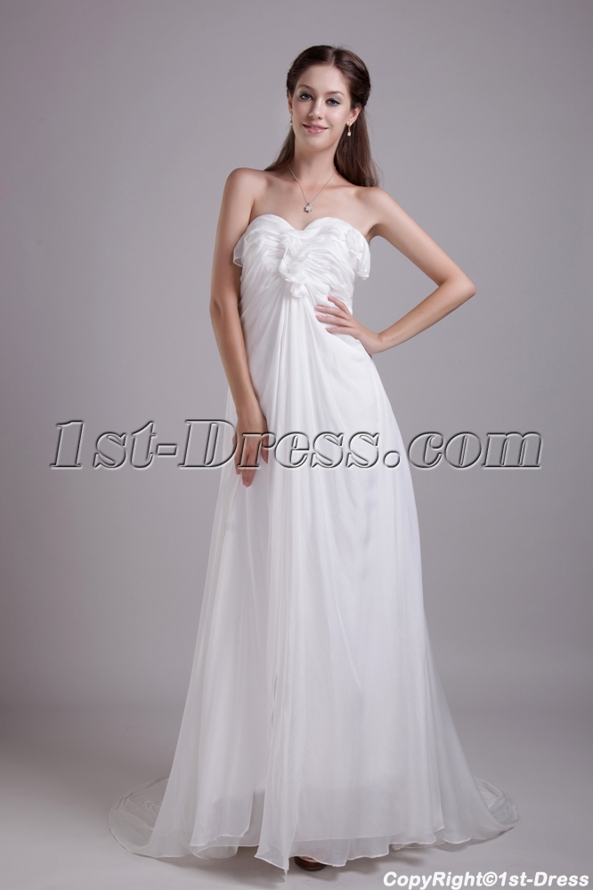 Chiffon Elegant Formal Wedding Gown Dress IMG 06631st Dress