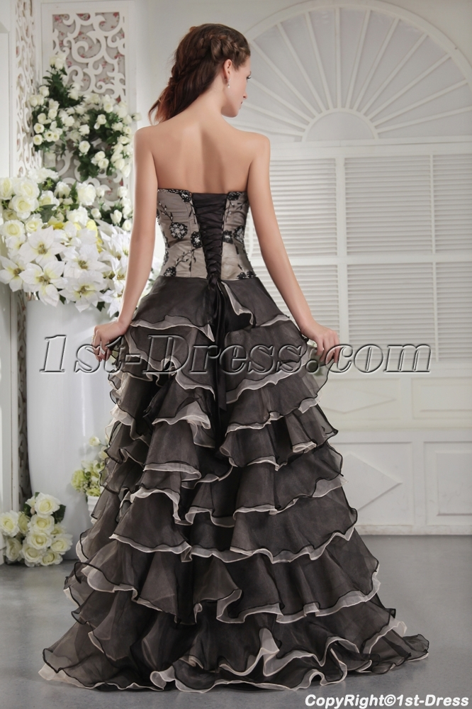 Exclusive Colorful Masquerade Ball Gown with High-low Hem IMG_9915 ...