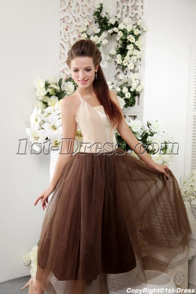 Halter Tea Length Colorful Modest Semi Formal Dresses Img02291st