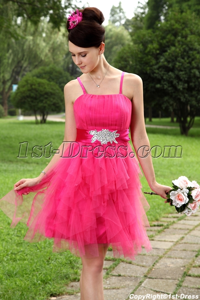 Hot Pink Sweet Short Quinceanera Dresses Img 0969 1st