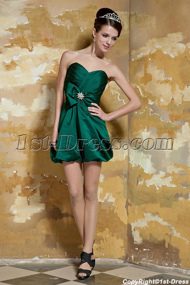 6eb1d50ed16e Hunter Green Cute Short Graduation Dresses for Girls Age 12 GG1056 ...