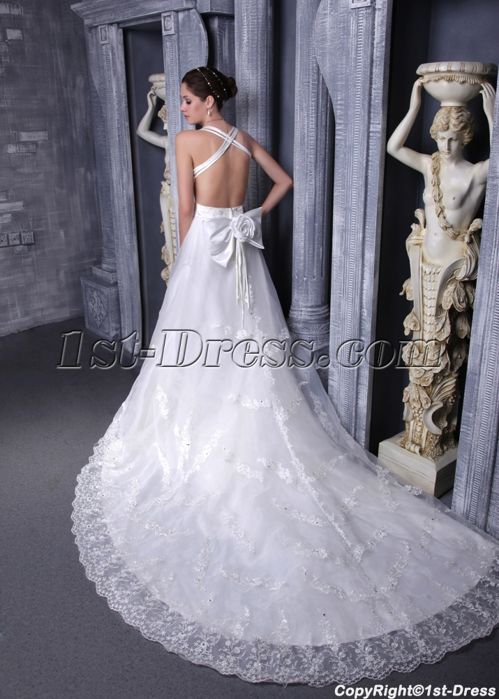 Lace Backless Wedding Dresses for Summer