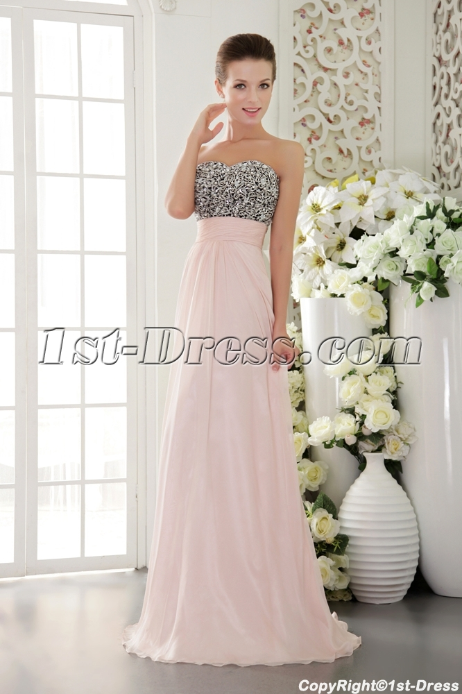 Light Pink with Black Exclusive Pretty Prom Dresses for Sale ...