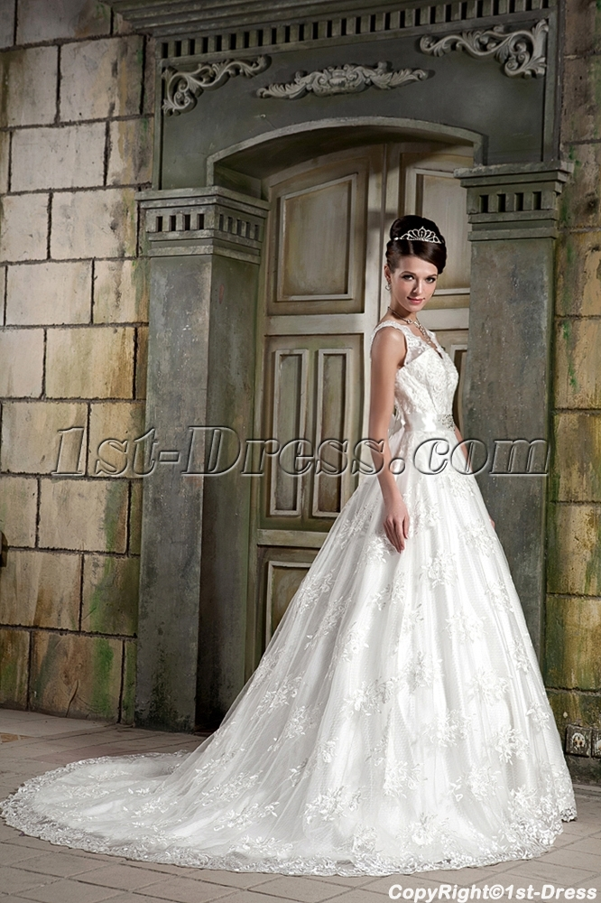Modest Lace Ball Gown Bridal Gown Gg10801st Dress