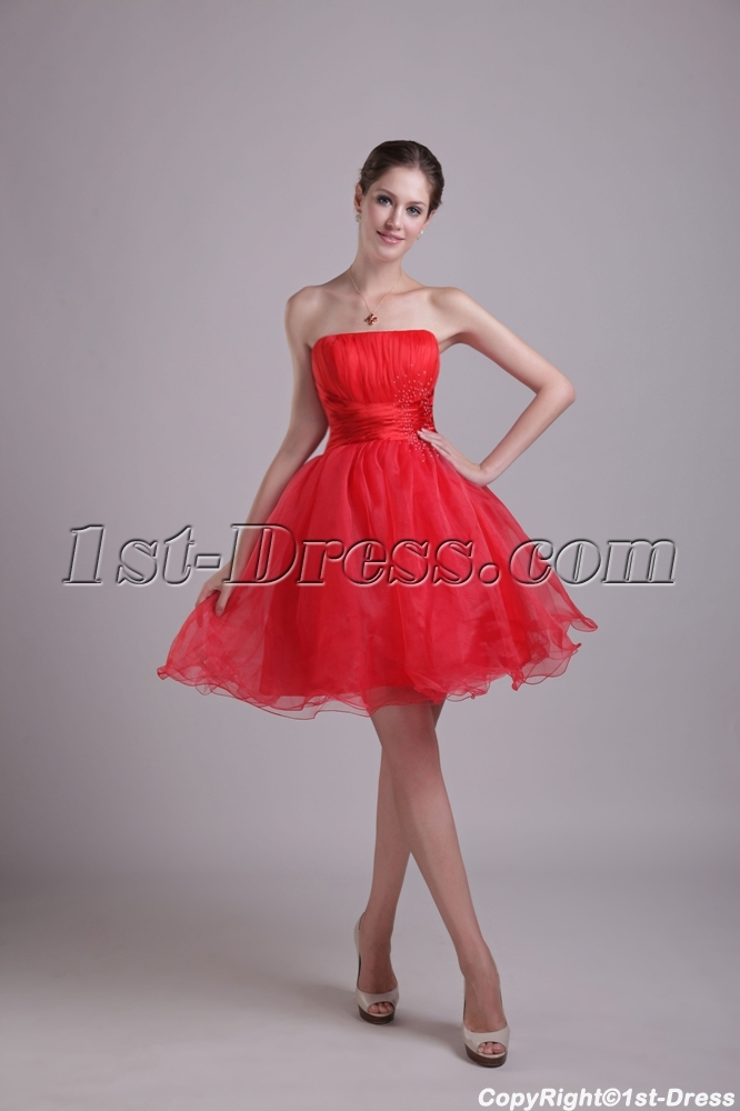 New Arrival Red Puffy Sweet 15 Dresses 1002 1st Dress Com