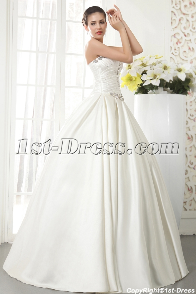Noble Satin Winter Wedding Dress With Corset Img 5521 1st Dress Com