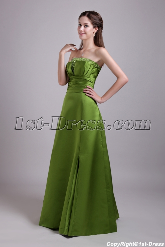 Olive Green Long Formal Evening Dress With Jacket Img06961st Dress