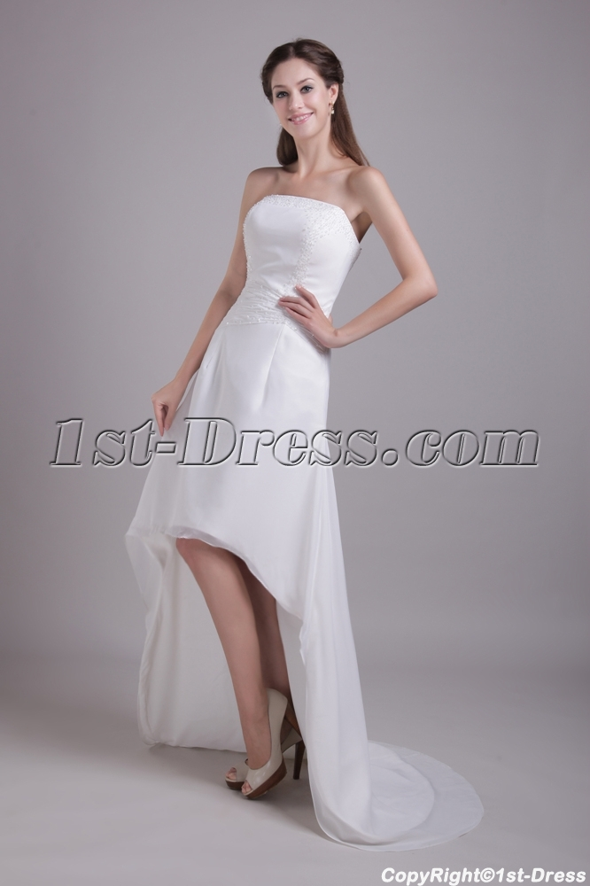 Outdoor Casual Chiffon Bridal Gown