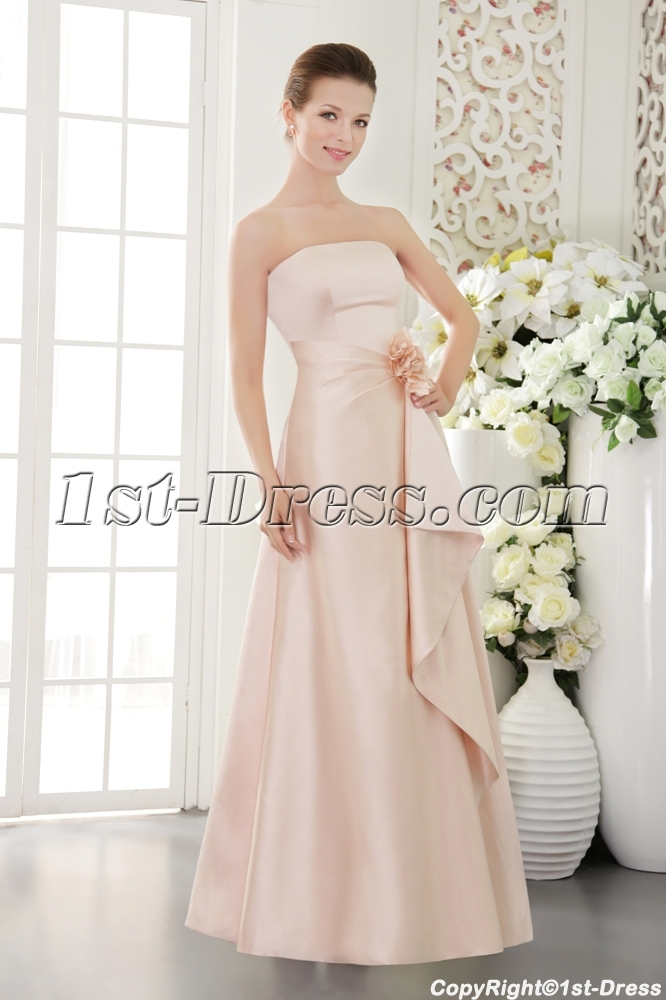 Pearl Pink Long Elegant Pretty Prom Dress IMG_9498:1st-dress.com