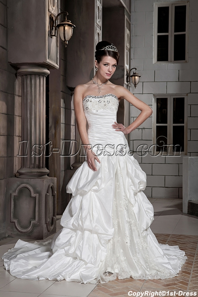 Petite Strapless Long Vintage Bridal Gowns