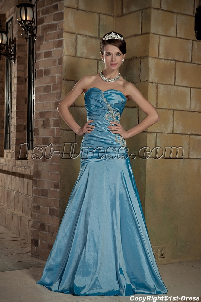 Cheap Blue Prom Dresses 2012