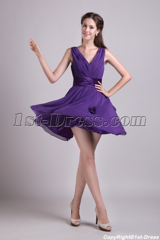 Cheap Short Purple Cocktail Dresses - Long Dresses Online