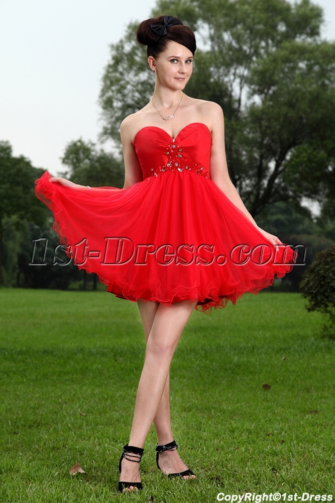 Red Cute Sweet 15 Quinceanera Dresses IMG_1099:1st-dress.com
