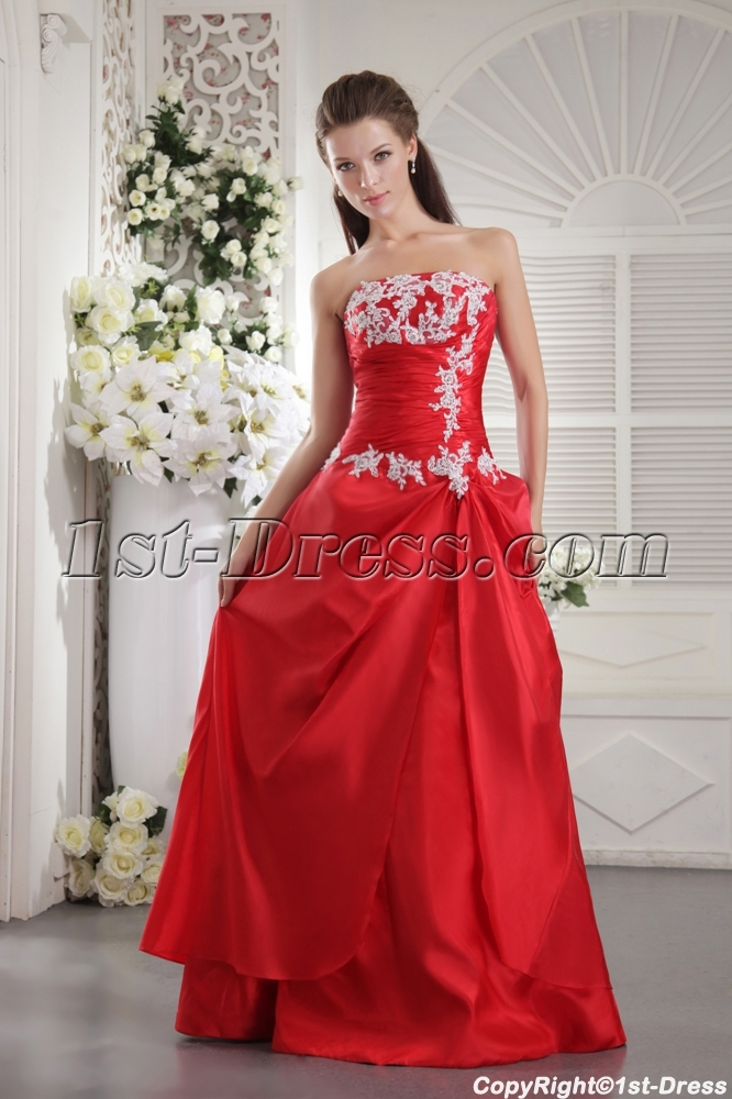 7c3e93f423a Red Long Clearance Bridesmaid Gown IMG 9955 1st-dress.com