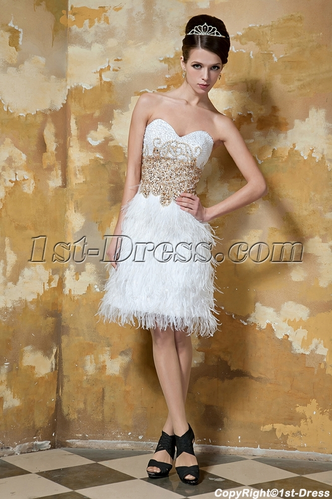 Short Ostrich Feather Cocktail Prom Dresses Gg10361st Dresscom