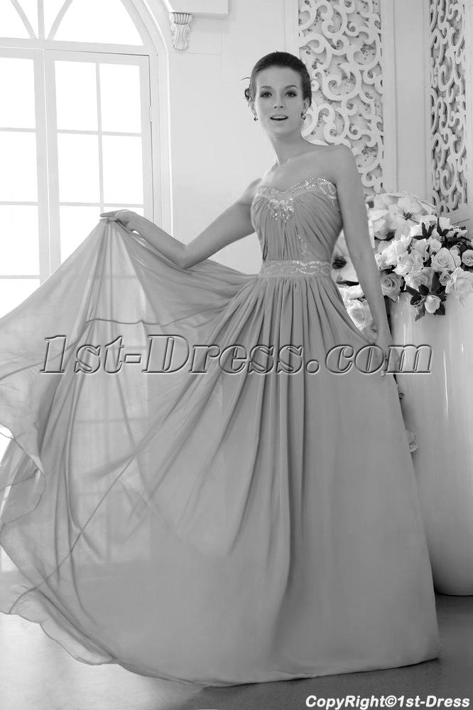 Silver Chiffon Evening Dresses for Plus Size Women Australia IMG_9614