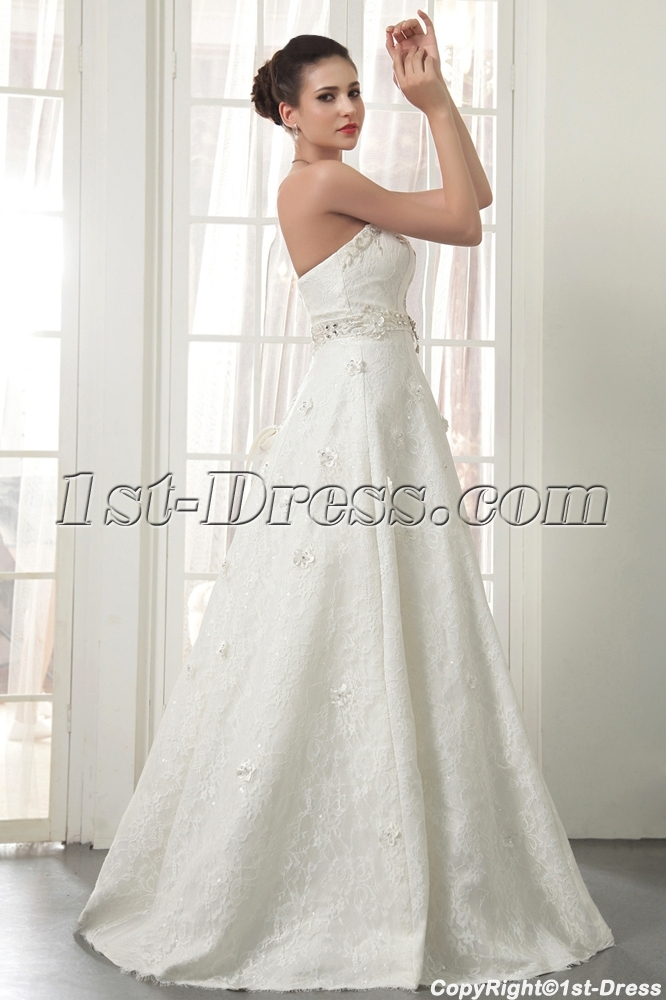 Strapless long modern lace wedding dresses miami img 5534 for Long strapless wedding dresses