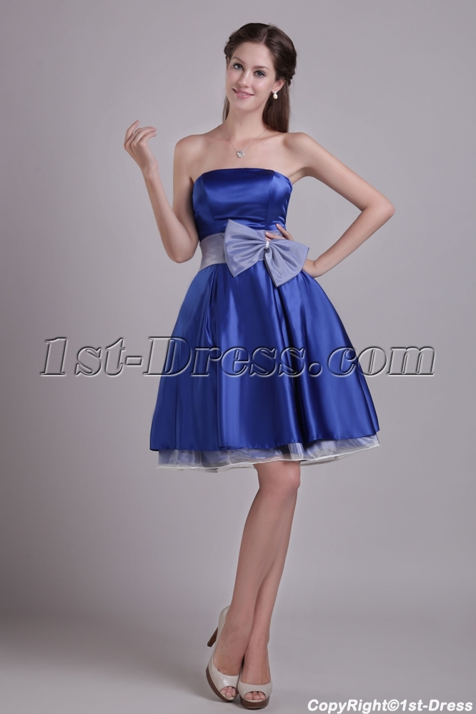 Sweet Royal Blue Short Homecoming Dress