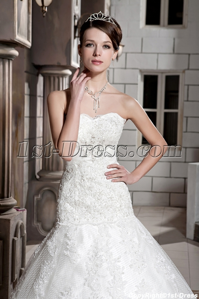 Sweetheart Mature Lace Mermaid Bridal Gowns with Corset Back GG1087 ...