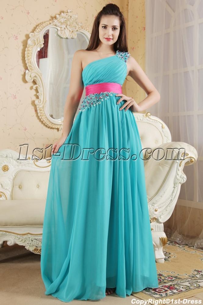 Pink Teal Dresses