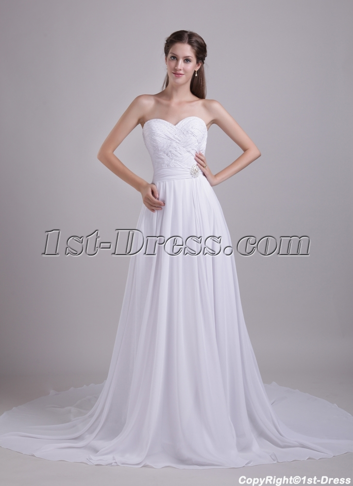 White Wedding Dresses for Pregnant Brides