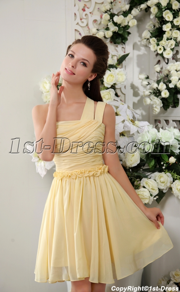 d4859a97f5 Yellow Pretty Junior Short Prom Dresses IMG 0239 (Free Shipping)