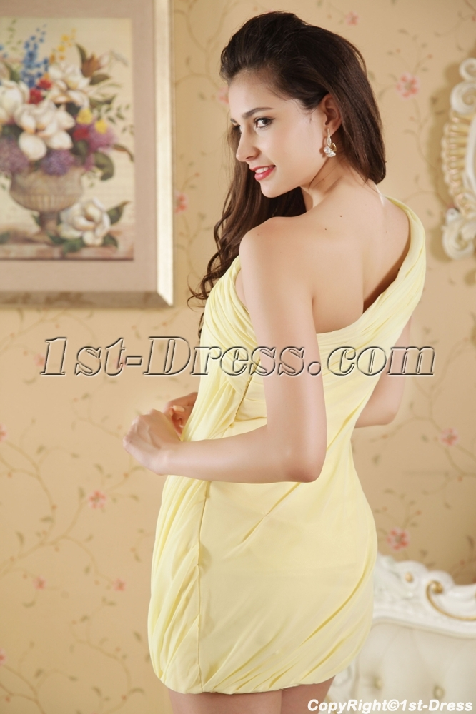 0004fc9907b Yellow Short One Shoulder Homecoming Dress under 100 IMG 5293 1st ...