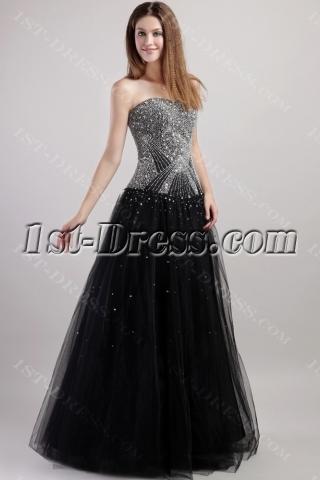 2013 Luxury Black Quinceanera Dresses 1938