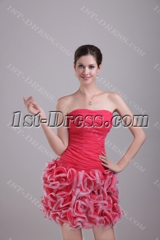 2013 Sweet Short Ruffled Quinceanera Dresses 1286