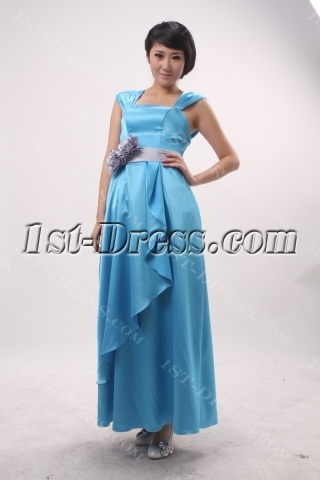 A-Line Bateau Cowl Long / Floor-Length Satin Evening Dress 3838