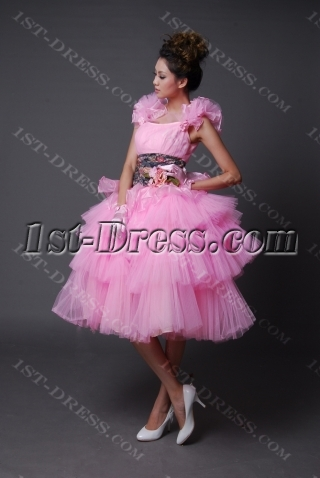 A-Line Jewel Knee-Length Satin Graduation Dress 2212-3