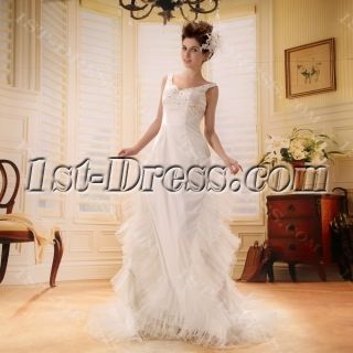 A-Line/Princess Sweetheart Chapel Train Satin Wedding Dress With Ruffle Beadwork F-075