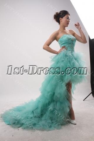 A-Line Sheath / Column Strapless Sweetheart Short / Mini Long / Floor-Length Tulle Elastic Silk-like Satin Evening Dress 3851