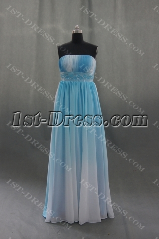 A-Line Strapless Floor-Length Chiffon Elastic Silk-like Satin Evening Dress 04359