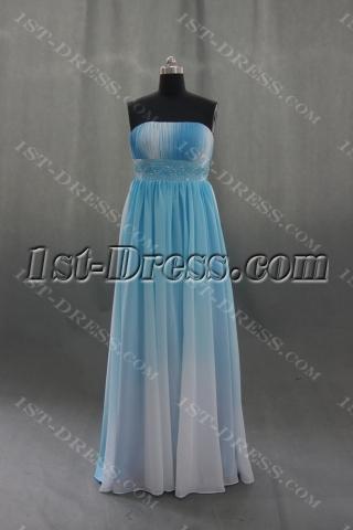 A-Line Strapless Floor-Length Chiffon Elastic Silk-like Satin Evening Dress 04359