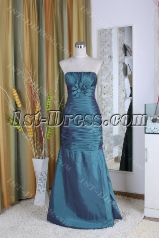 A-Line Strapless Sweetheart Ankle-Length Taffeta Mother of The Bride Dress 5354
