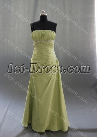 A-Line Strapless Sweetheart Floor-Length Elastic Taffeta Prom Dress 04944