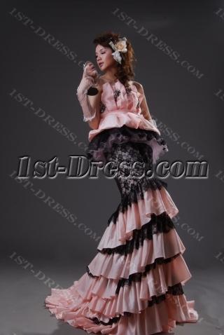 A-Line Strapless Sweetheart Long / Floor-Length Taffeta Prom Dress H2232-2