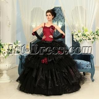 Ball-Gown One-Shoulder Floor-Length Organza Quinceanera Dress H-114
