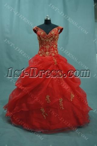 Ball Gown Princess Halter V-Neck Asymmetrical Waist Non-Strapless Satin Plus Size Quinceanera Dress 04855