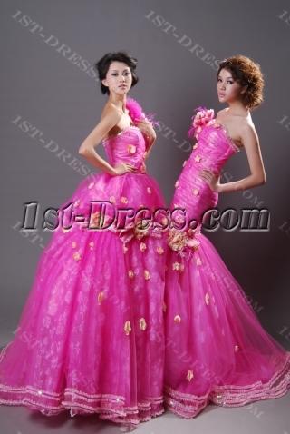 Ball Gown Princess Long / Floor-Length Taffeta Organza Quinceanera Dress Y009