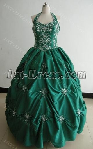 Ball Gown Princess Strapless Long / Floor-Length Taffeta Quinceanera Dress 3478