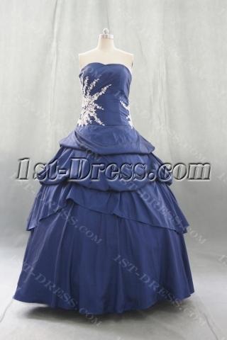 Ball Gown Princess Strapless Sweetheart Floor-Length Taffeta Quinceanera Dress 06409