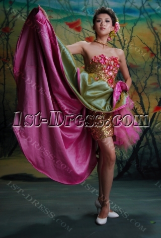 Ball Gown Princess Strapless Sweetheart Short / Mini Taffeta Quinceanera Dress y003