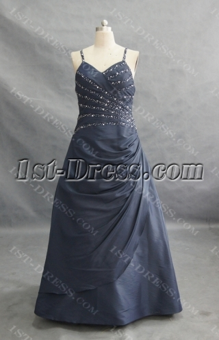 Ball-Gown Strapless Floor-Length Taffeta Prom Dress With Ruffle 00658