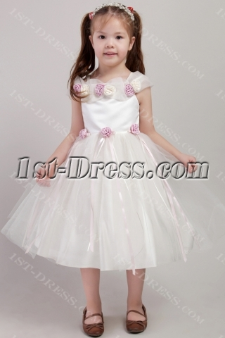 Beautiful Flower Girl Dress with Flowers 2427